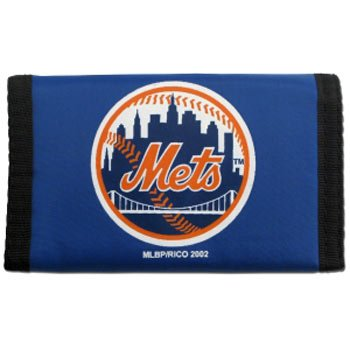 New York Mets Black Jersey (MLB New York Mets Rico Products MLB Nylon Wallet New York Mets, black, Small)