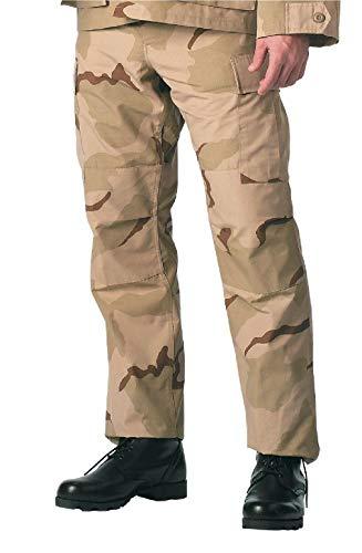 BlackC Sport Tri Color Desert Camouflage Military Cargo Fatigue BDU Pants
