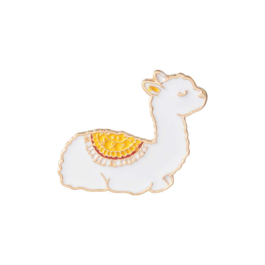 Xeminor Premium Cartoon Llama Enamel Cute Alpaca Styling Badge Brooches Pin for Women Men
