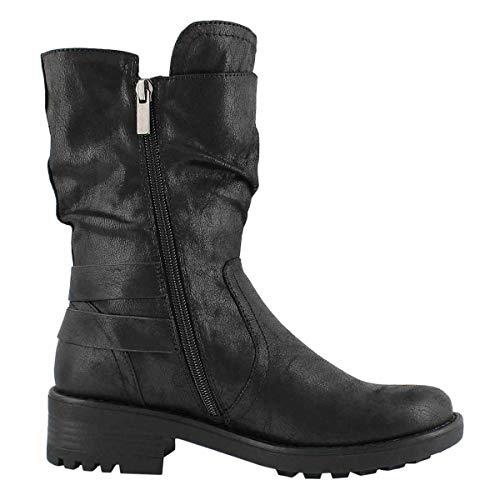 Combat Slip Boots Black SoftMoc Women's Tessie On BWx7SR