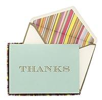 Eccolo Many Thanks Boxed Notes, Multi Stripe (QD505)