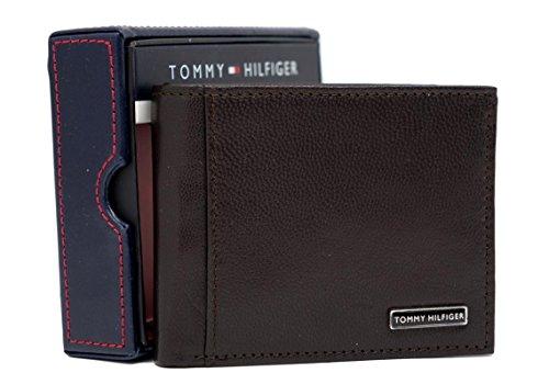 Tommy Hilfiger Men's Leather Passcase Bifold Billfold Wallet
