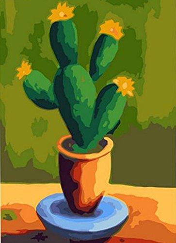 Greek Art Paintworks Paint Color By Number Kits,Cactus,16-Inch by 20-Inch