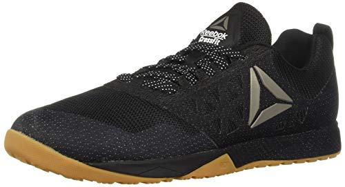 Reebok Men's CROSSFIT Nano 6.0 Climbing Shoe, Black/Gum, 9 M US