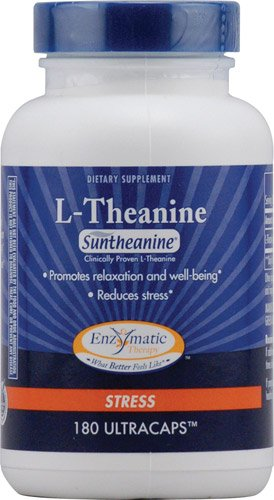 Enzymatic Therapy L-Theanine -- 180 Veg Capsules - 3PC by Enzymatic