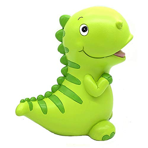 Yevir Lovely Green Dinosaur Shaped Piggy Bank, Coin Bank, Money Bank, Personalized Piggy Banks for Boys, As Birthday Gifts and Preferred Gifts for Boys Girls