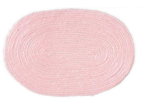 Melody Jane Dolls Houses House Miniature 1:12 Scale Accessory Plain Baby Pink Large Oval Rug ()