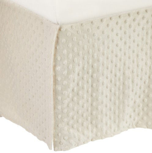 American Baby Company Heavenly Soft Minky Dot Tailored Crib Skirt, Ecru