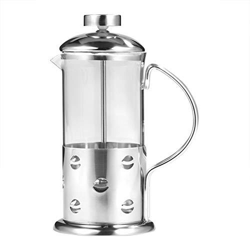 Cafetera, 350/600/800 ml de vidrio de acero inoxidable Prensa francesa Taza de café Tetera Cafetera Filtro(350ML)
