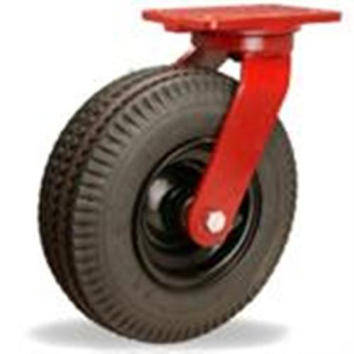 "10"" Hamilton Cush-N-Aire Pneumatic Swivel Plate Caster, 480 lb Cap from Access Casters Inc."