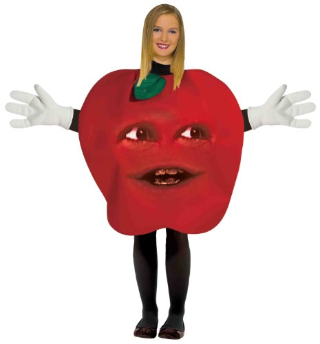 Forum Annoying Orange Midget Apple Teen Costume, Red, One Size