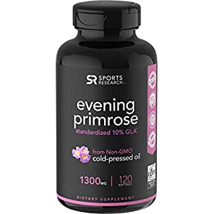 Evening Primrose Oil (1300mg) 120 Liquid Softgels ~ Cold-Pressed with No fillers or Artificial Ingredients ~ Non-GMO…