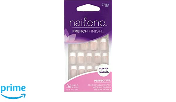 Amazon.com : NAILENE FRENCH FINISH FLEX FOR COMFORT #77482 MEDIUM LENGTH : False Nails : Beauty