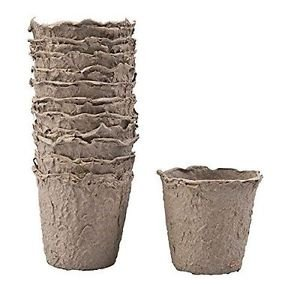 - Biodegradable Peat Pots Set (10-piece)