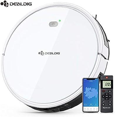 Dealdig - Aspirador de robot inteligente 1800Pa, con conexión Wifi ...
