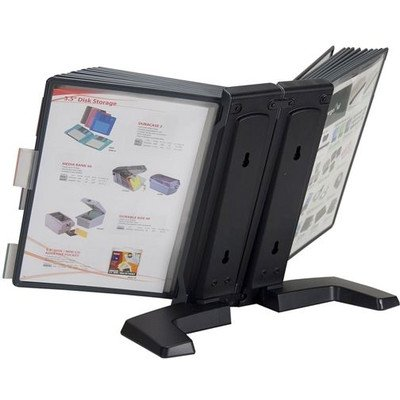 (Aidata FDS005L-20 Desktop Reference Organizer, Includes 20 Display Panels, Displays up To 40 Pages)