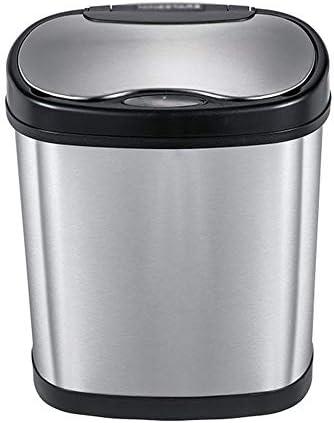 ゴミ箱 12L容量のインテリジェント誘導ステンレス鋼のゴミ箱リビングルームのベッドルームのバスルームごみビン 耐久性 機能性 使いやすさ (Color : Photo Color, Size : 12L)