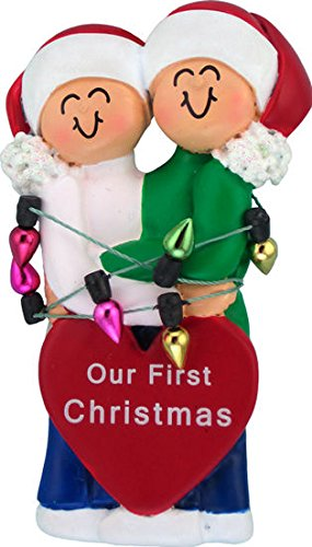 Ornament Central Couple First Christmas with Personalization