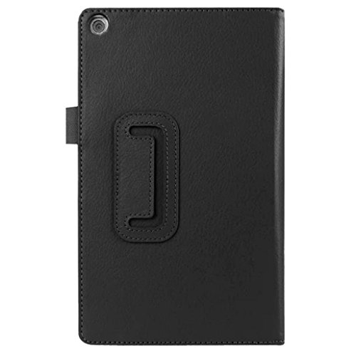 Sikye Leather Case Stand Cover For 8inch ASUS ZenPad 8.0 Z380C Z380KL Tablet (Black)