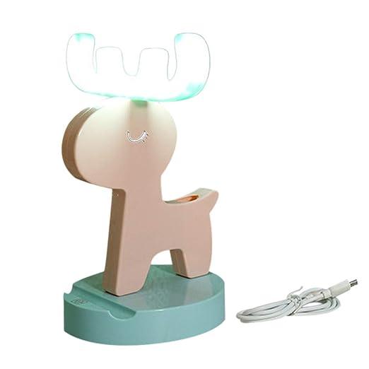 OSYARD - Lámpara de noche de ciervo nórdico, tira de luz LED, USB ...