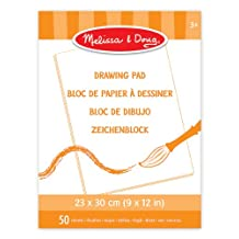 Melissa & Doug Drawing Pad (23 x 30 cm) With 50 Sheets of White Bond Paper