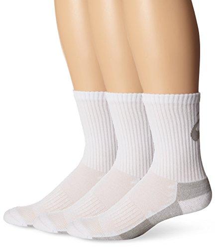 ASICS Contend Training Crew Socks , Large, White