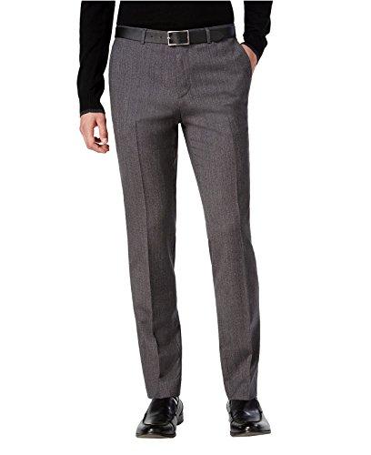 Hugo Boss Astian/Hets Extra Slim Fit 2 Piece Men's 100% Virgin Wool Suit Melange Herringbone 50320624 033 by HUGO (46 Regular USA Jacket / 40 Waist Pants) by HUGO BOSS (Image #3)