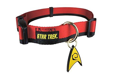 Pets Supply ST207Hundehalsband, Motiv:Star Trek-Uniform, Rot, Größe L, 38,1–55,9cm