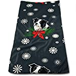 Border Collie Christmas Soft Cotton Large Hand Towel- Multipurpose Bathroom Towels for Hand, Face, Gym and Spa 5