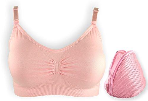 Nursing Bra Comfort+ Womens Maternity Seamless Bralette - Pink, Large