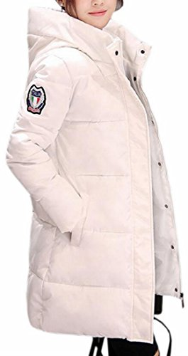 Sleeve Down Jacket Warm Khaki Womens UK Winter Hooded today Puffer Zipper Long Side 86xZBnFnRz
