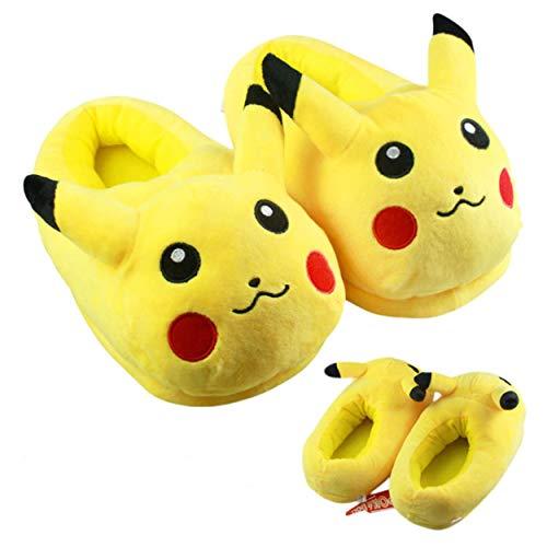 E.a@Market Anime Pikachu Pokemon Winter Warm Home Floor - Mens Pikachu Slippers