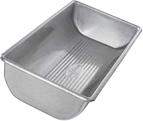 Kitchen 2 Pound Heavy Gauge Commercial Steel Bake Loaf Hearth Pan with Scraper Combo