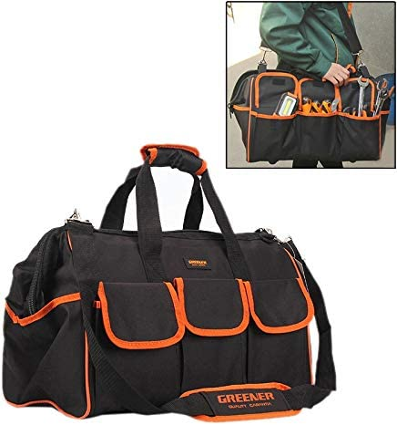HZG 多機能オックスフォード布電気技師ベルトポーチメンテナンスツールハンドバッグショルダーバッグ便利なツールバッグ、サイズ:17インチ 職人スペシャルパッケージ