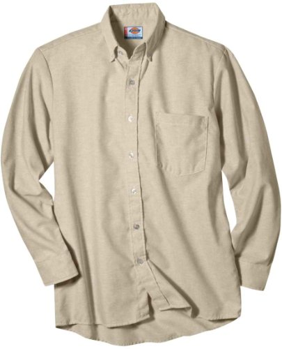 Dickies Long Sleeve Oxford Shirt (Dickies Occupational Workwear SS36TK 175RG Polyester/ Cotton Men's Button-Down Long Sleeve Oxford Shirt, 17-1/ 2