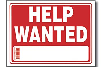 Help Wanted Sign (9 Inch X 12 Inch) (Pack of 3)