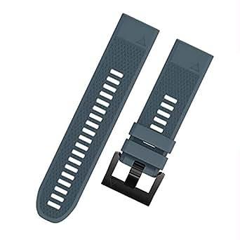 For Garmin Descent MK1 - Premium Silicone Smart Watch Band Wrist Strap - Slate