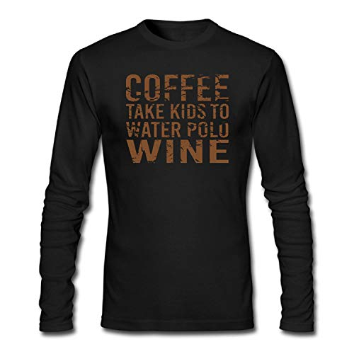67548f0a Bbhappiness Mens Coffee Take Kids to Water Polo Wine Funny Tshirt