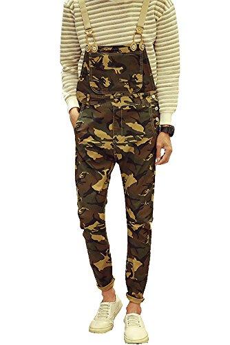 Army Bib (Denim Men's Army Camouflage Slim Bib Overalls Size)
