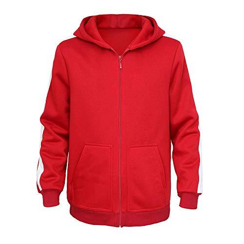 Mukola Boys Coco Miguel Hoodie Fleece Full Zip Sweatshirts Costume Red