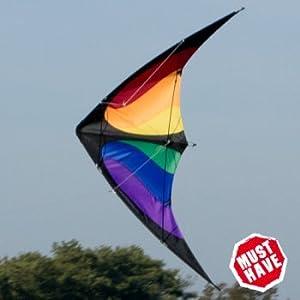 Lenkdrachen - NUNCHAKU Rainbow MUSTHAVE - für Kinder ab 8 Jahren - Abmessung:...