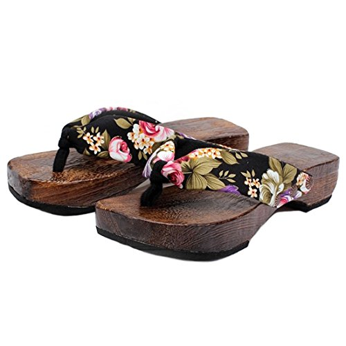 c251c37d1c77b Ainiel Woman s Japanese Traditional Clogs Geta Sandals (40(US9.5)