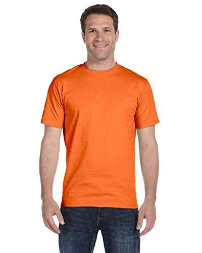 Hanes Mens Tagless ComfortSoft Crewneck T-Shirt_Orange_S