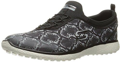 Zapatillas de deporte de la manera de Mamba de Microburst de las mujeres del deporte de Skechers, negro / blanco