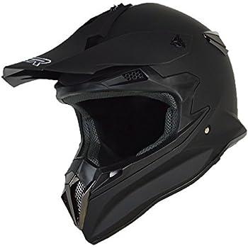 PGR Sx22 Adult Mx Motocross Enduro ATV Dirt Bike Down hill Quads Buggy Ruckus Sand Crawler DOT Helmet Boosted Board Evo board Electric Skateboard Electric scooter (Large, Matte Black)