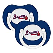 Atlanta Braves 2-pack Infant Blue Pacifier Set - 2015 MLB Solid Color Baby Pacifiers