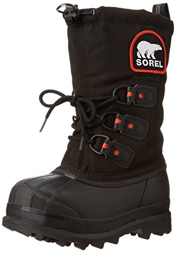 Sorel Youth Glacier XT Extreme Weather Boot ,Black/Red Quart
