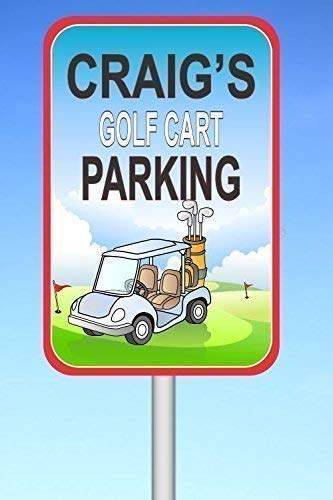 - Golf Cart Parking, Custom Sign, Gift For Golfing Fans, PGA Lovers, Name Wall Hanging, Man Cave Decoration, Sports Décor, Golfers
