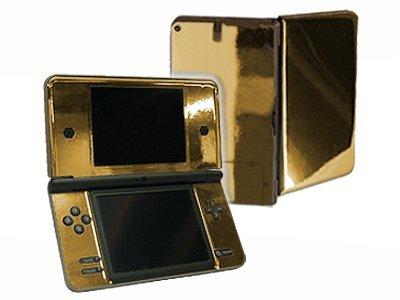 Dsi Xl Skin - Nintendo DSi XL Color Skin (DSi-XL) - NEW - GOLD CHROME MIRROR system skins faceplate decal mod