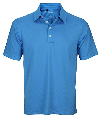 Adidas Taylormade Mens Athletic Polo Shirt (X-Large, Oasis Blue)